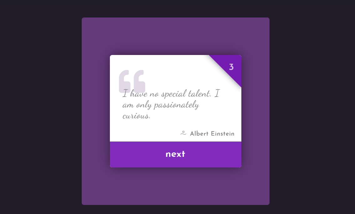 Pure CSS Sliding Quote Cards Examples