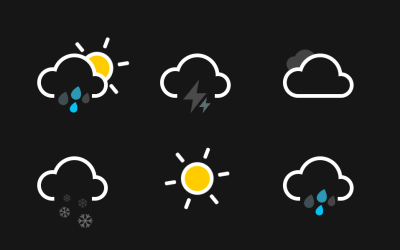 Pure HTML CSS Weather Icons Animation