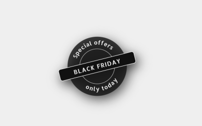 Responsive Black Friday SVG Badge With CSS