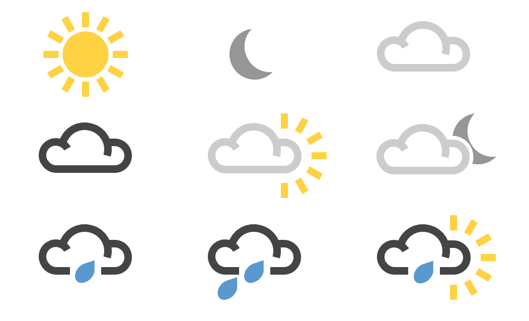Responsive Weather Icons in CSS3