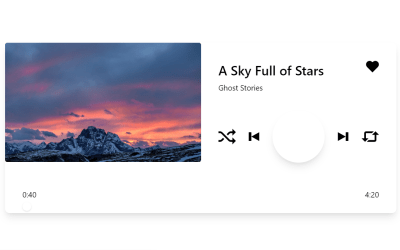 Simple CSS HTML5 Audio Player with Source Code