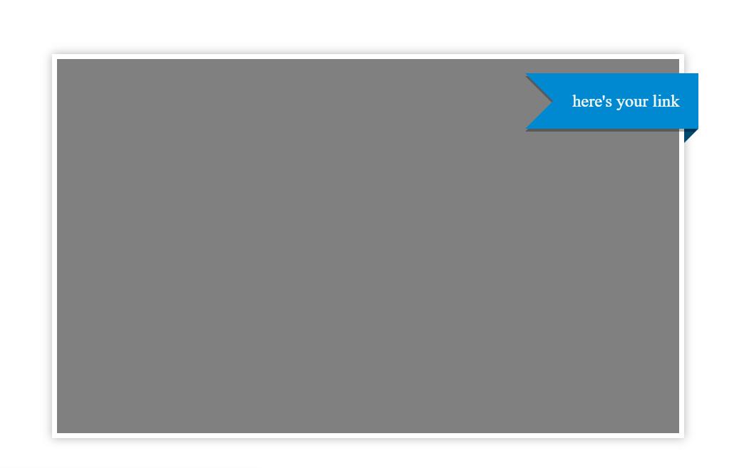 Simple CSS Ribbon Banner Right Corner