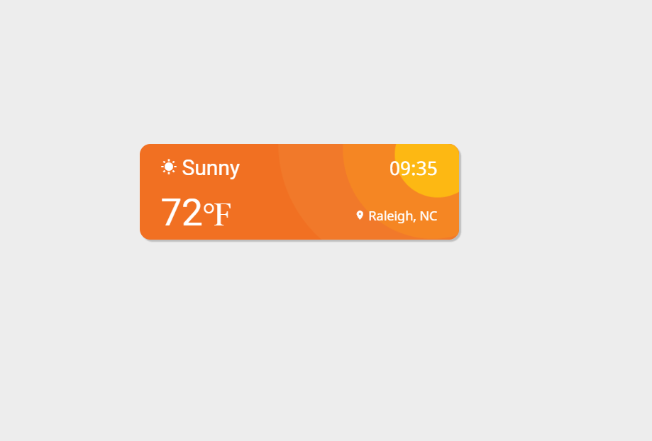 Weather Widget CSS Animation Example
