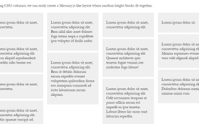 Amazing CSS Masonry Website Layout Design