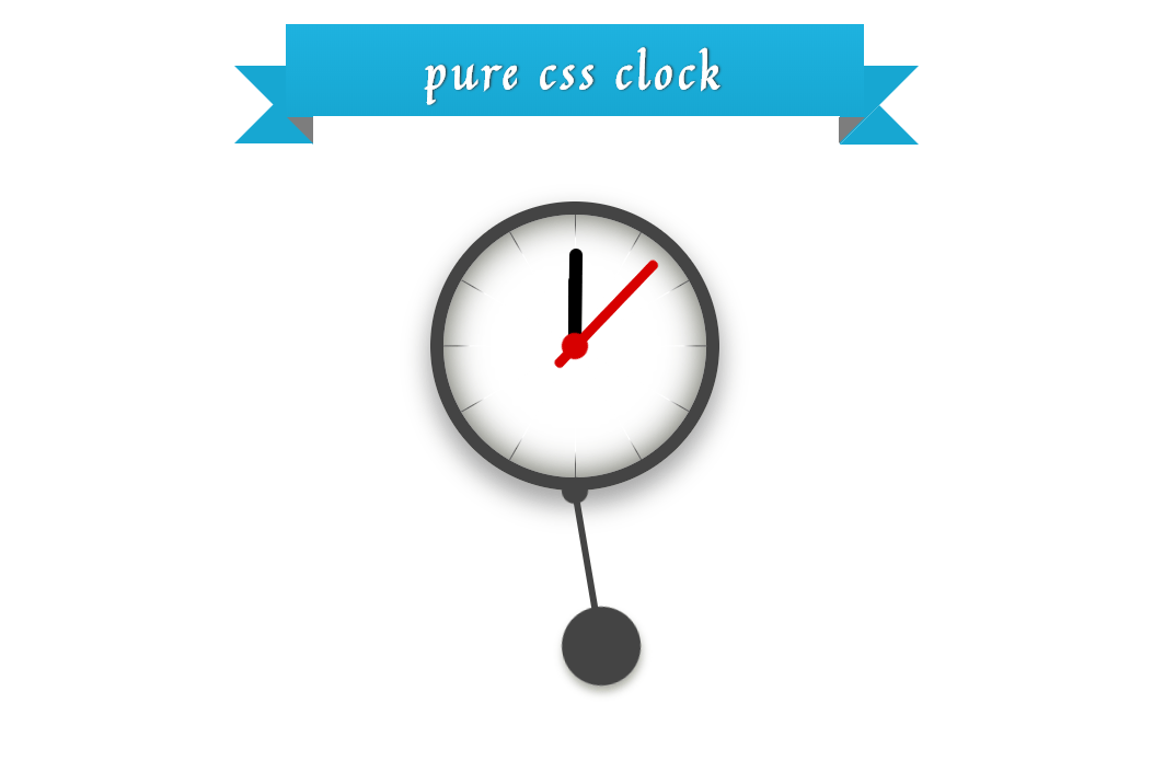 Amazing Pure CSS Animated Wall Clock