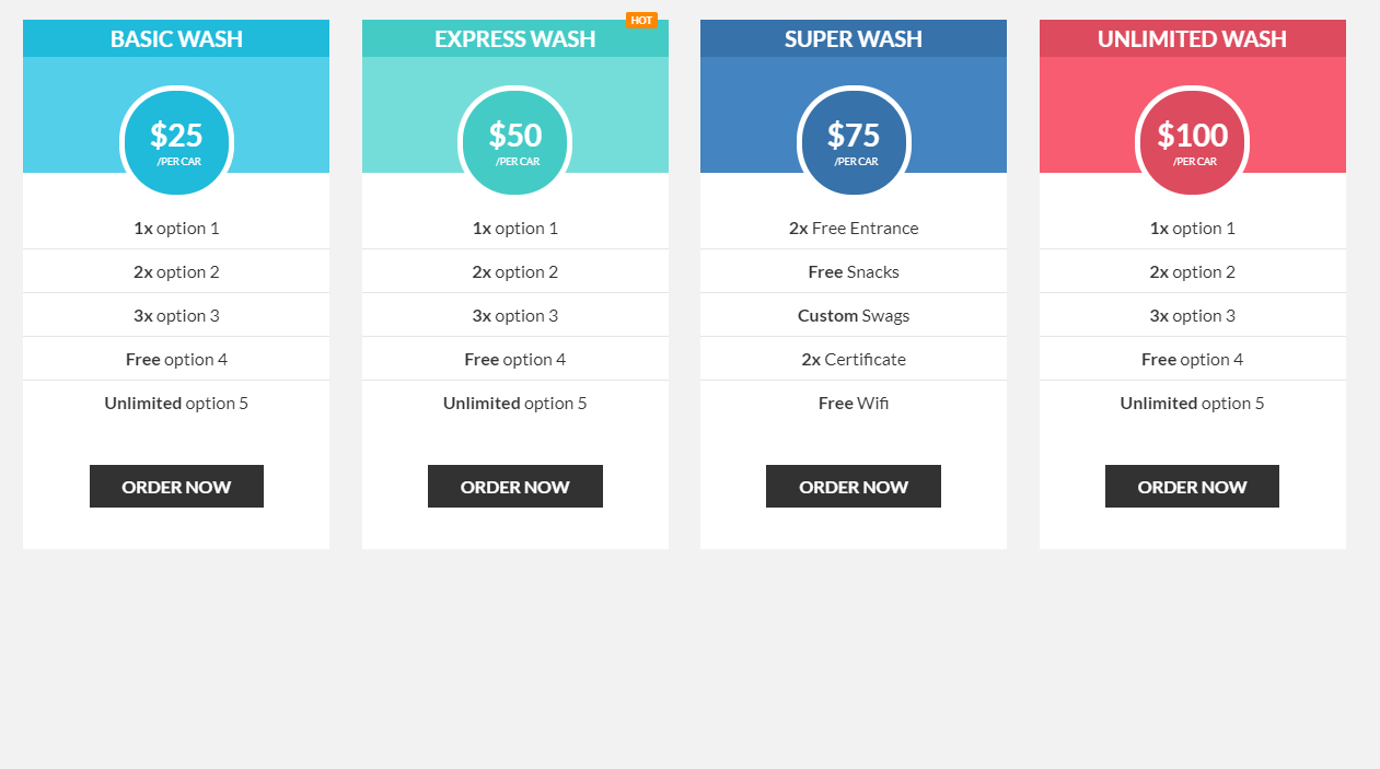 Awesome Pricing Tables CSS Code Snippet