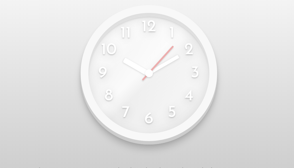 Clean Animation Clock Using HTML And CSS