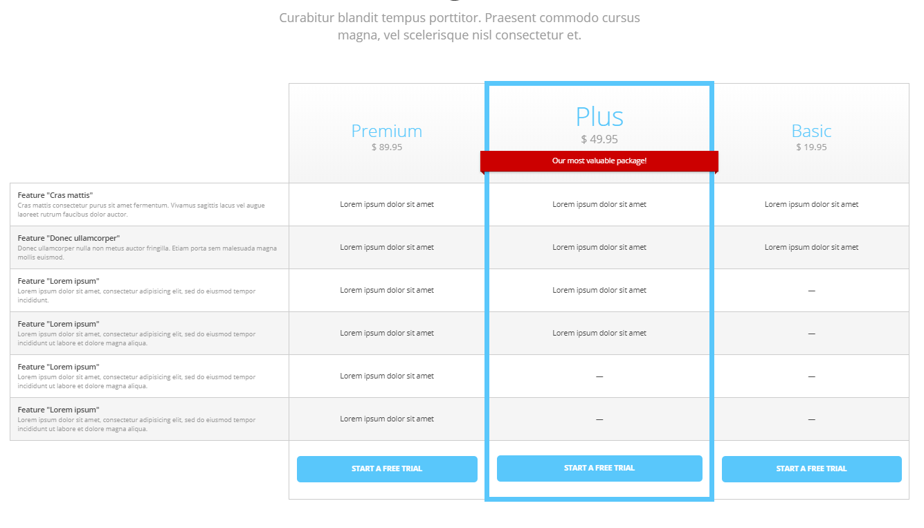 Clean Design Price Table CSS Source Code
