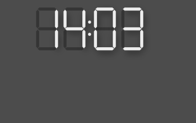 CSS Broken Digital Clock Display