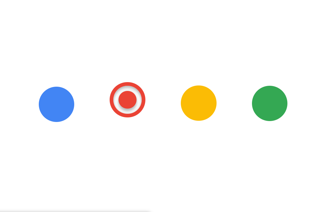 CSS Simple Google Dots Radio Buttons
