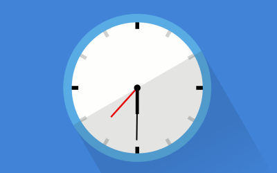 Flat Design CSS Analog Clock With Source Code