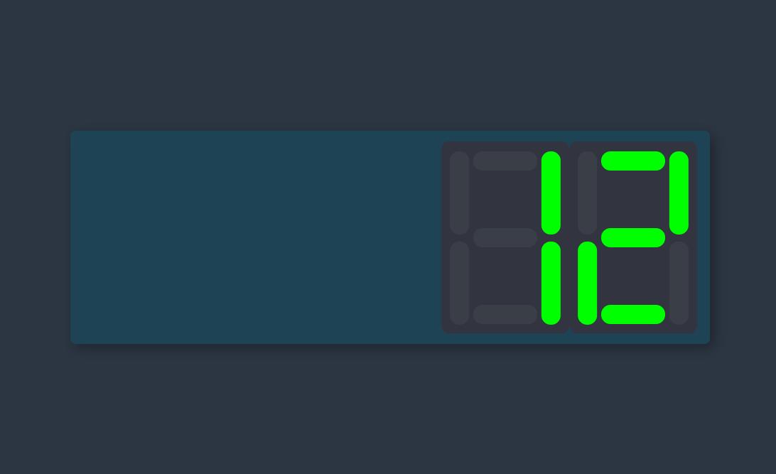 HTML CSS Website Digital Clock Design Snippet