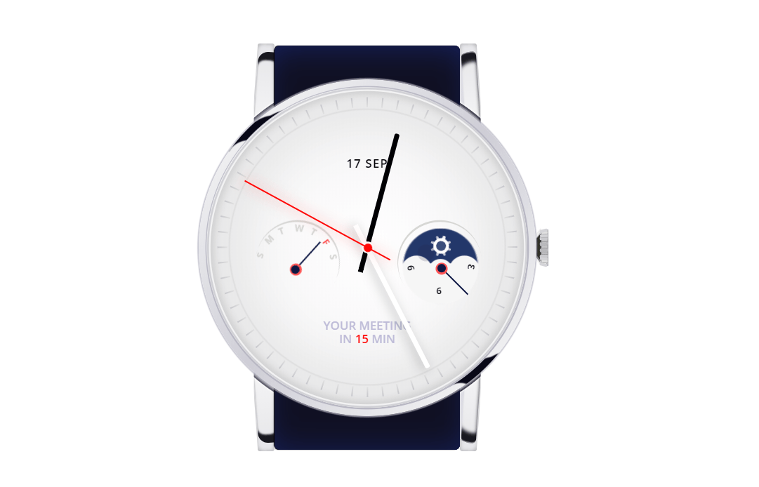 Pure CSS Analog Clock Watch Animation Example