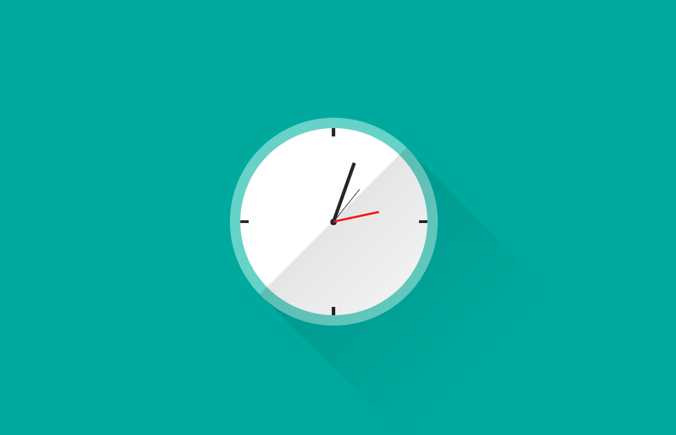 Pure CSS Animated Time Clock Design