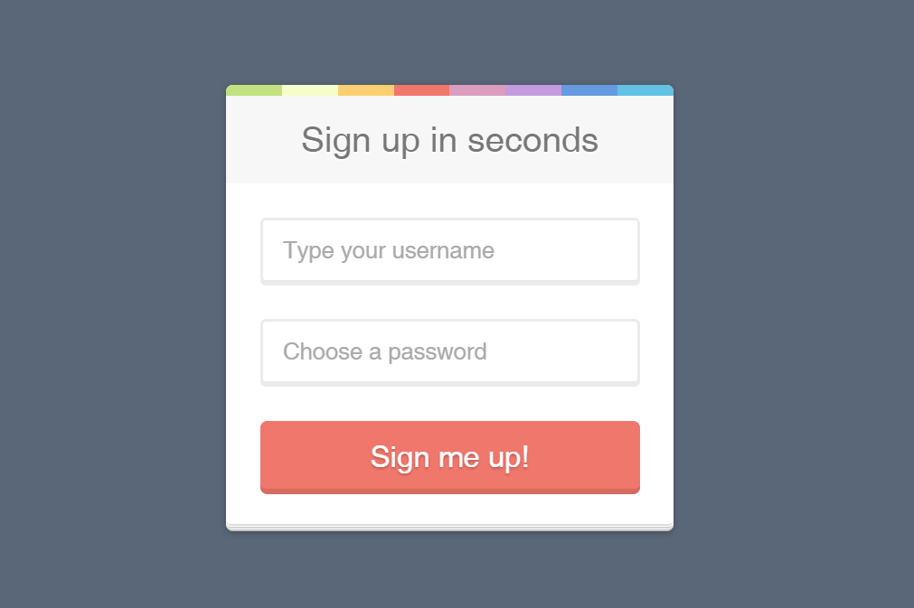 Register Form HTML CSS Template