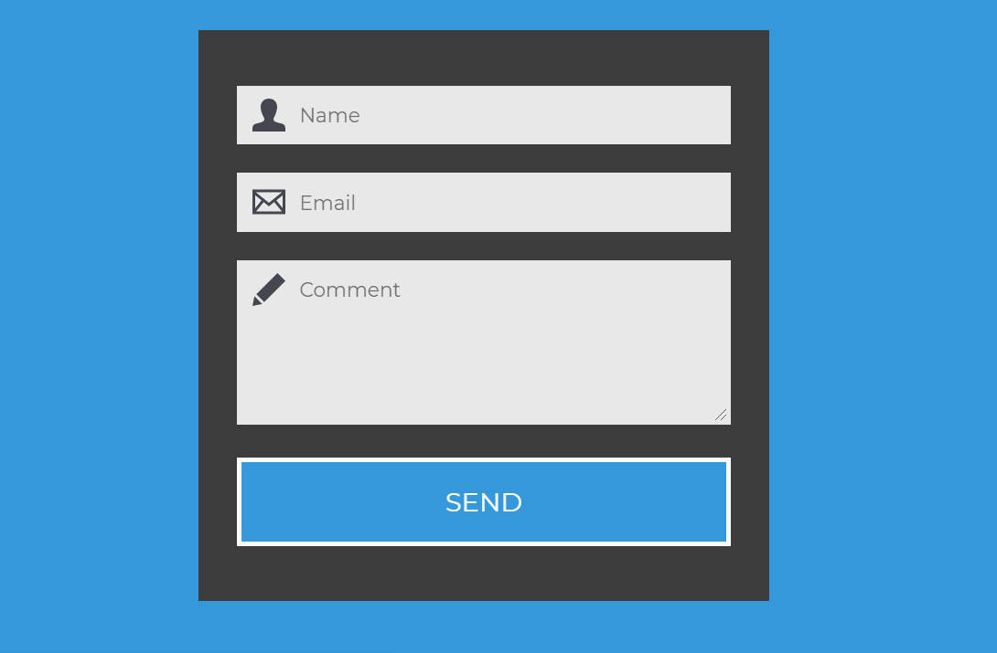 Responsive HTML Contact Us Form Template