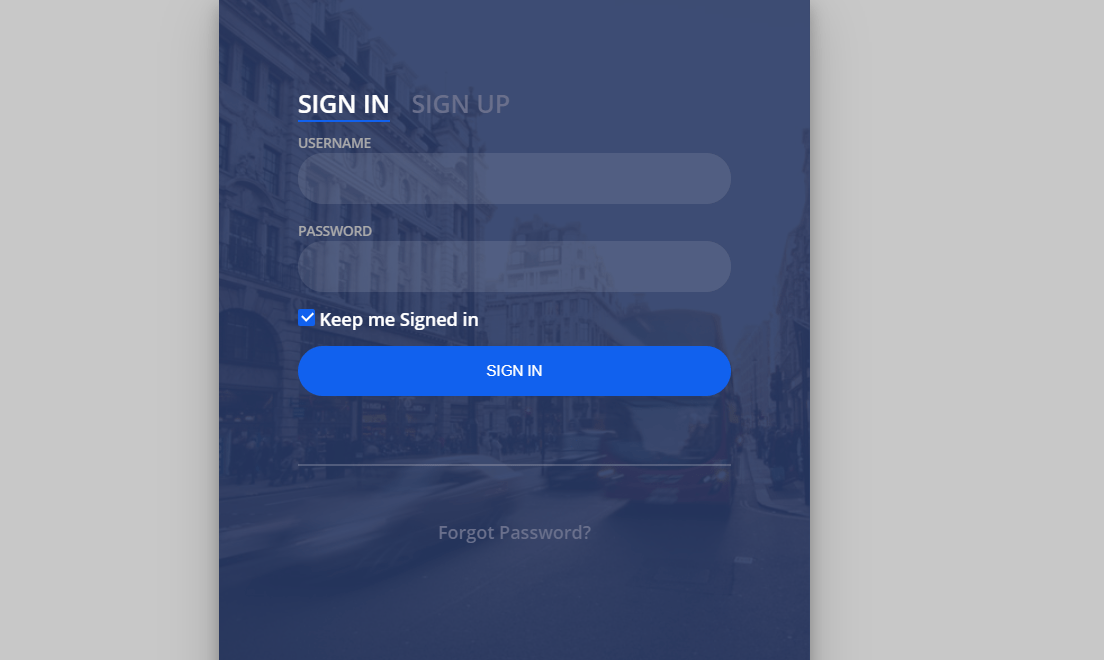 Responsive Login And Registration Form HTML Template