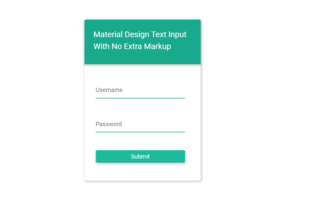Simple CSS Material Design Input Text