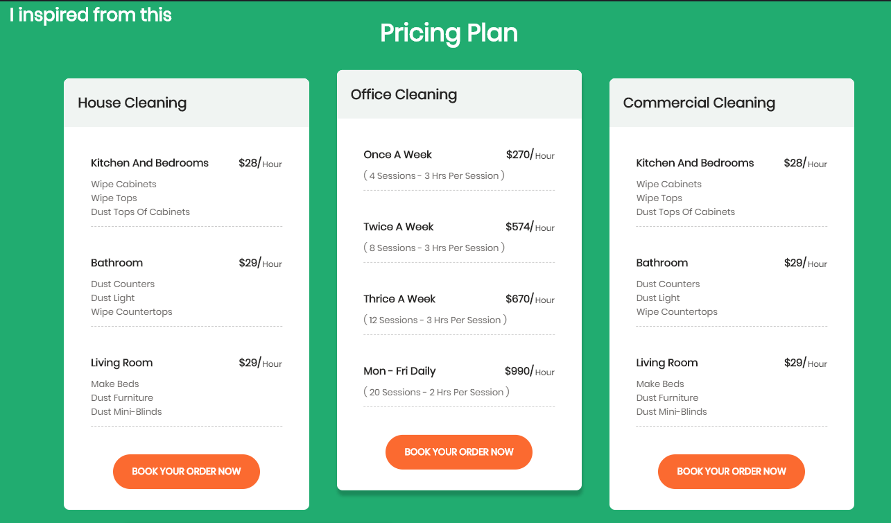 Website Price Table UI Design CSS Code Snippet