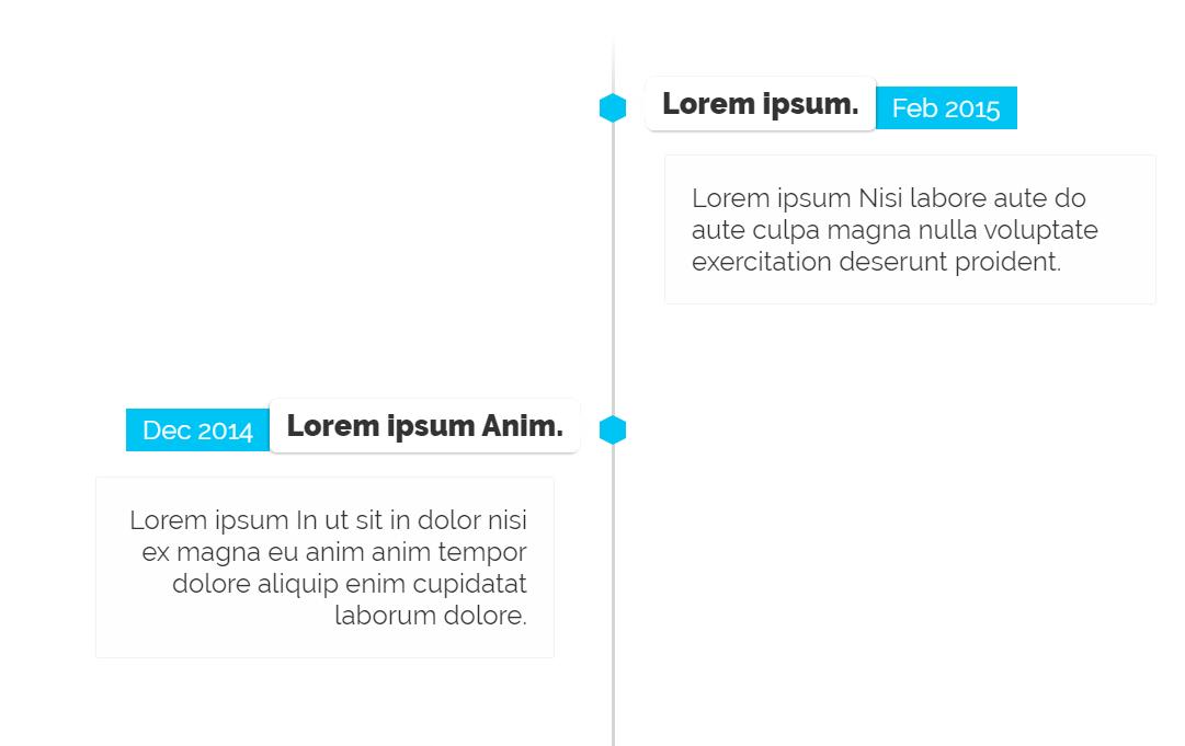 CSS Based Responsive Vertical Timeline