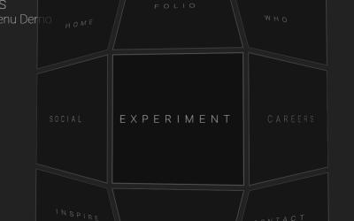 CSS Grid Navbar Menu Responsive 3D Design
