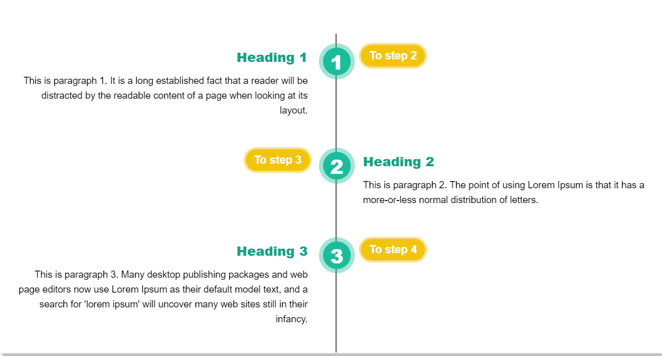 CSS Responsive Vertical Timeline Practice