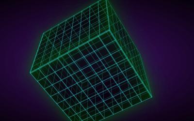 CSS Retro Spinning Cube Design Example
