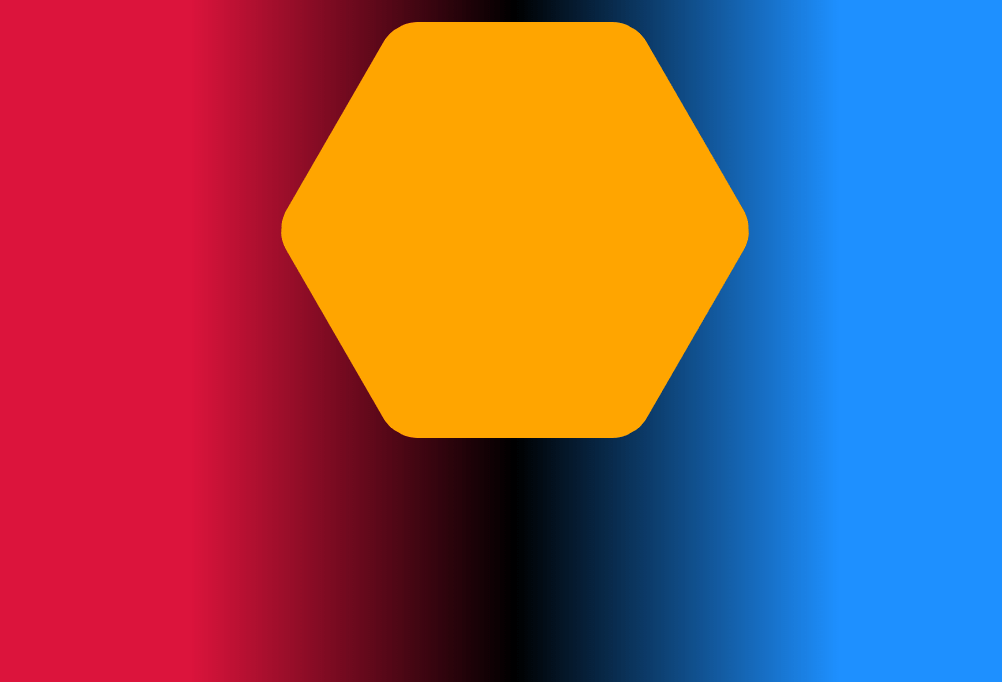 CSS Rounded Corner Hexagon with Background Color