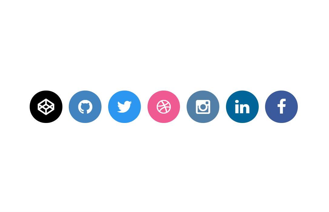 CSS Social Media Icons Hover with Tooltip