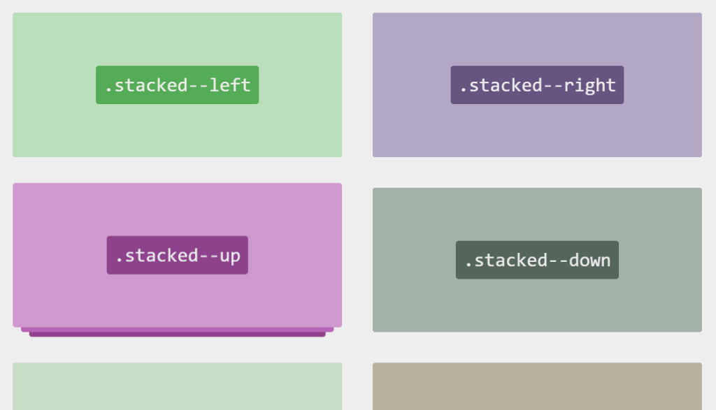 CSS Transitions Stacked Cards Hover Effects