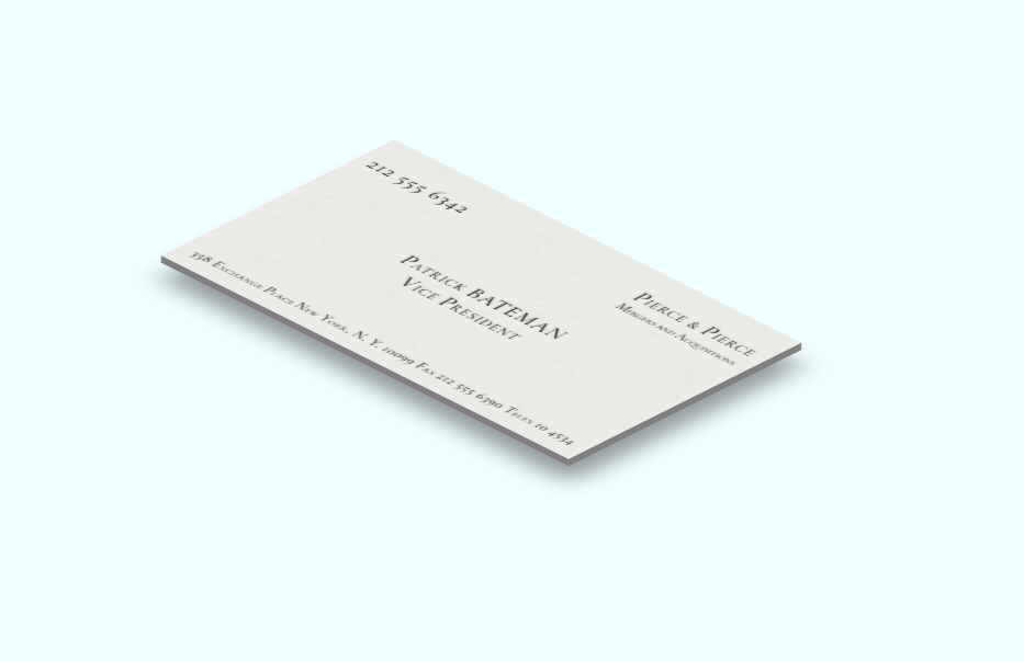 CSS3 3D Quick Business Card Design Hover Focus