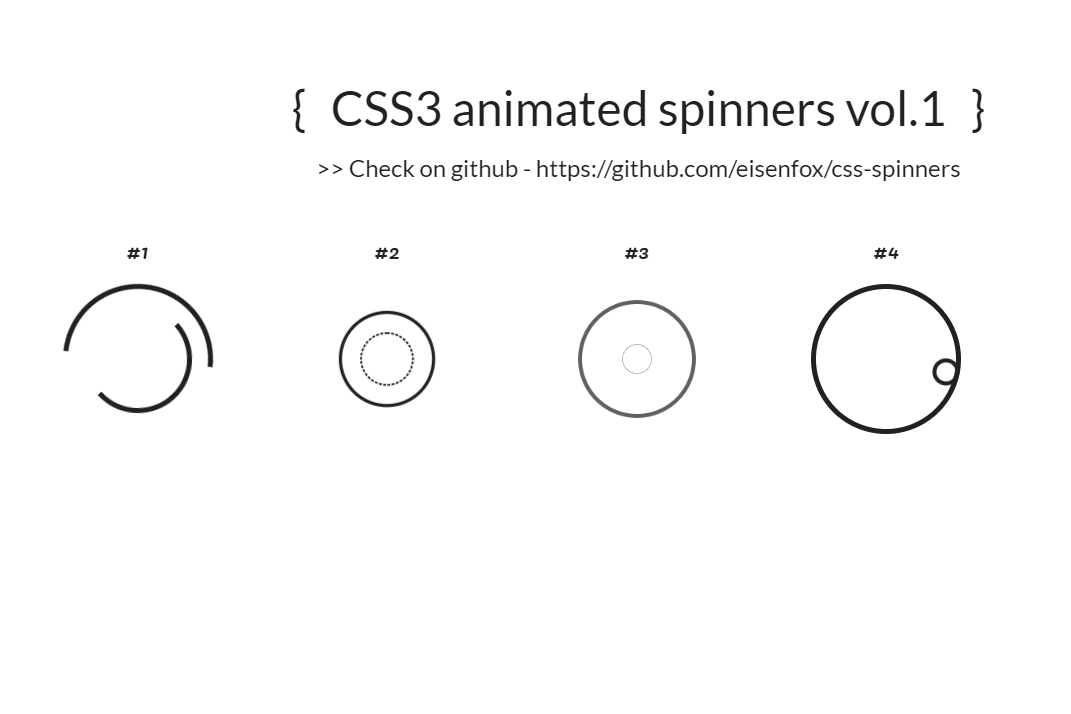 CSS3 Animated Website Spinners