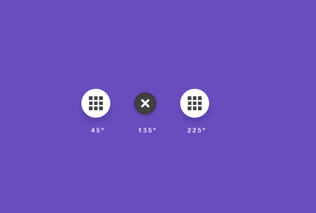 Grid Navigation Menu Icon CSS Animations