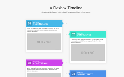 HTML CSS Flexbox Timeline Layout