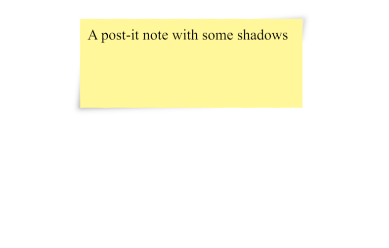 Post-It Note with Lifted Corners CSS Shadow