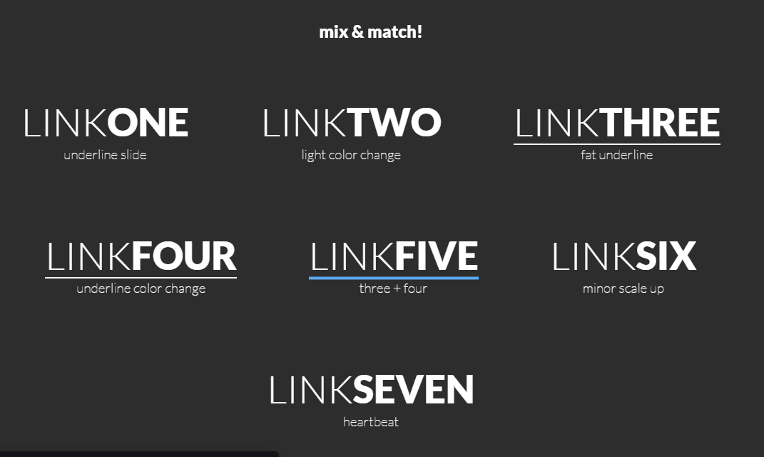 Pure CSS Subtle Link Hover Animation