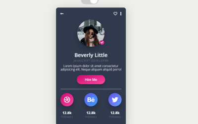 Pure CSS User Profile Card Snippet