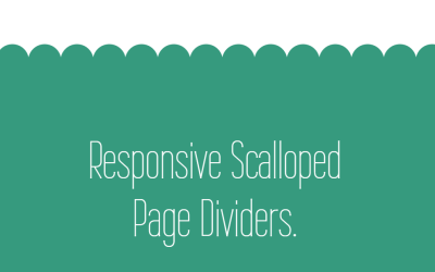 Responsive Scalloped Page Dividers CSS Gradients