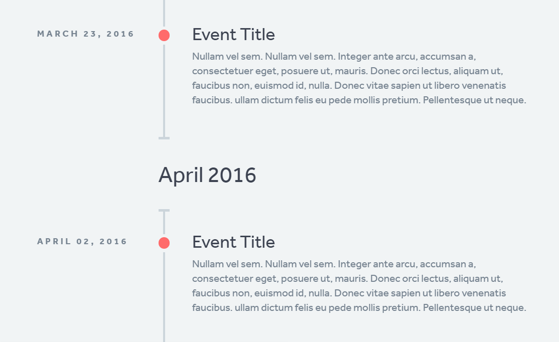 Simple Basic CSS Responsive Timeline