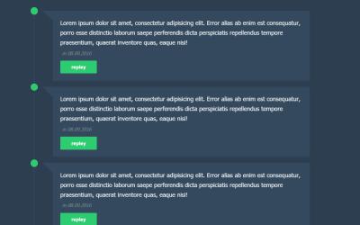 Simple CSS Flat Comments Timeline