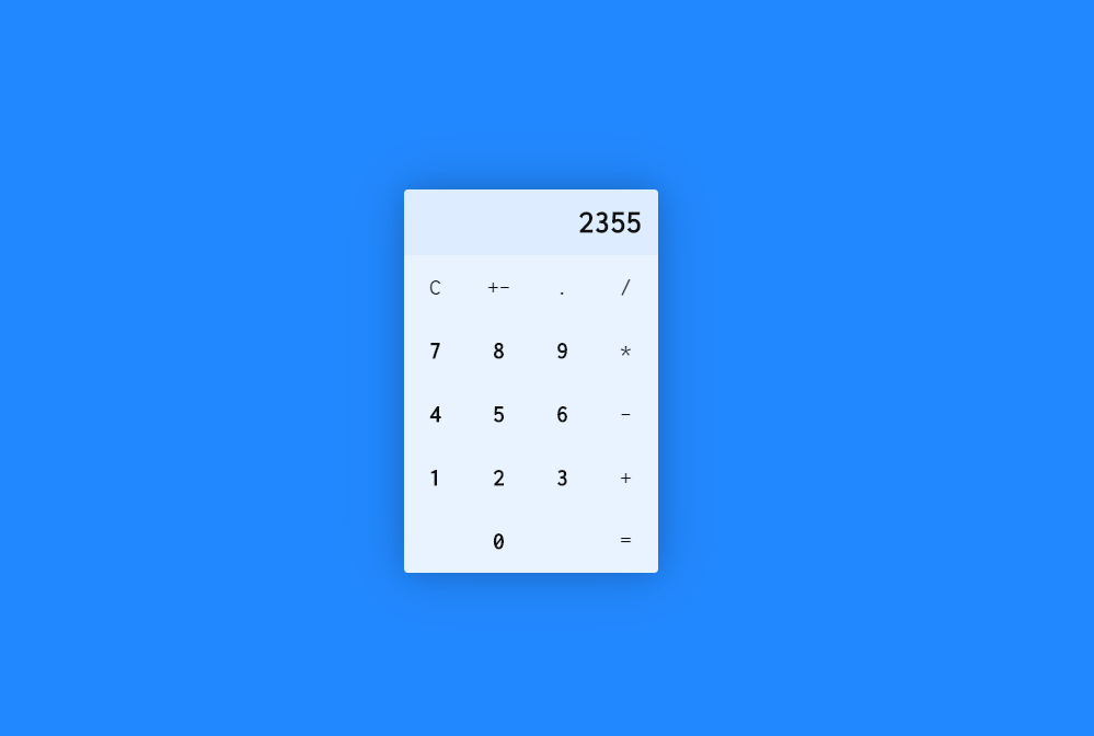 Calculator Vue JS Code Snippet