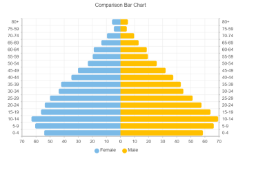 Comparison Bar Chart Using Vue Graph