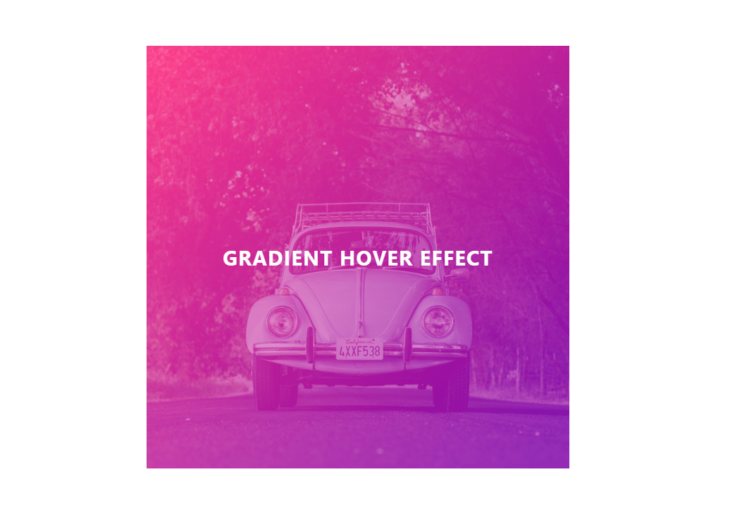 Cool Image Hover Effects CSS Gradient