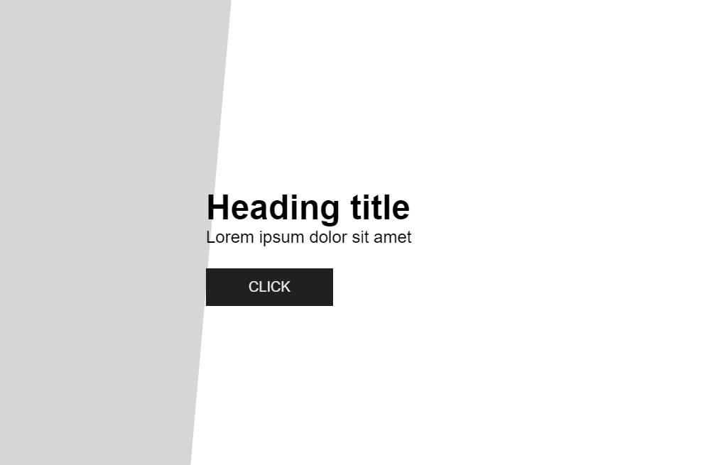 CSS3 Page Load Animation Web Example
