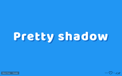 HTML CSS Text Drop Shadow Example