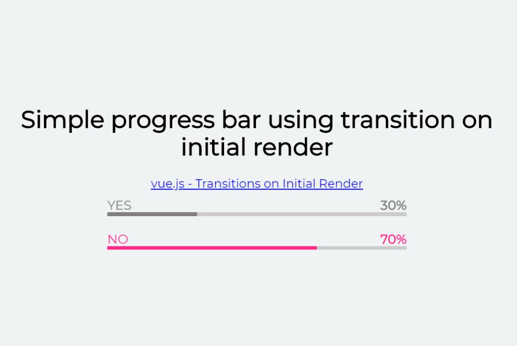 Progress Bar in Vue JS Simple Example