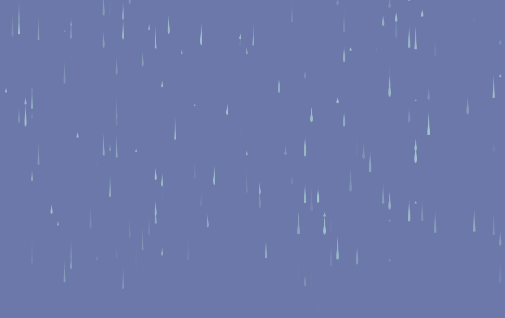 Pure CSS Raining Droplets Background