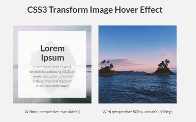 Pure CSS3 Transform Image Hover Effect