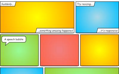 Responsive CSS Comic Book Layout