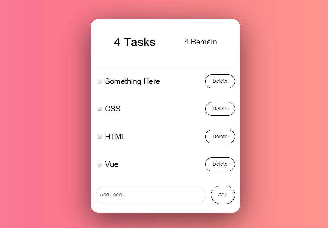 Simple Flexbox Todo List with Vuejs